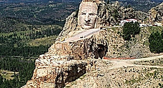 Crazy Horse Memorial, Drivingusa.dk - Roadtrip i USA