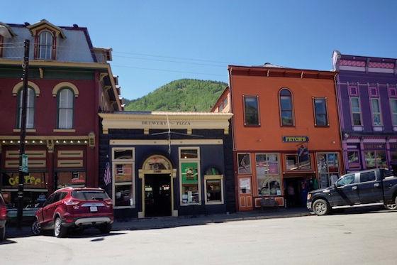 Minebyen Silverton i Rocky Mountains