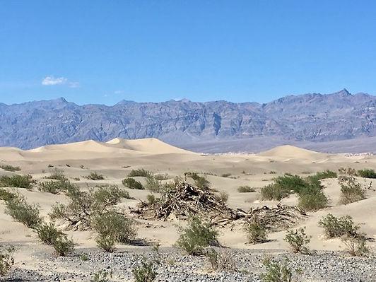 Mesquite Flat Sand Dunes, hvor Luke Skywalker blev filmet.