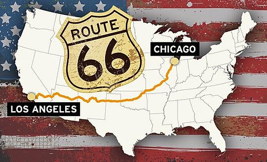 8 stater, 3939 km, 4 tidszoner på modervejen Route 66.