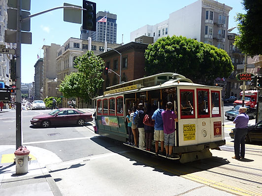 Sporvogne i San Francisco, Roadtrip ruter og nationalparker i USA