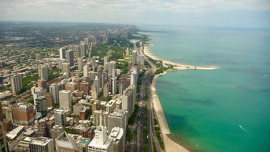 Skyskraber i Chicago. Hancock , Roadtrip ruter og nationalparker i USA