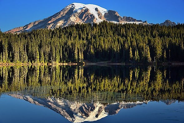 Mount Rainier og Reflection Lake. Mark Stevens.jpg