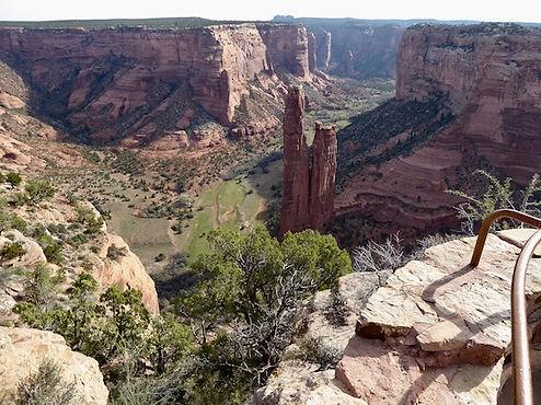 Ikoniske Spider Rock i Canyon de Chelly, Arizona. drivingusa.dk