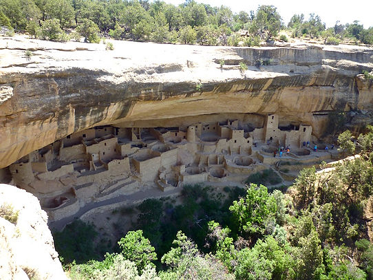 Mesa Verde ruin. Roadtrip ruter og nationalparker i USA