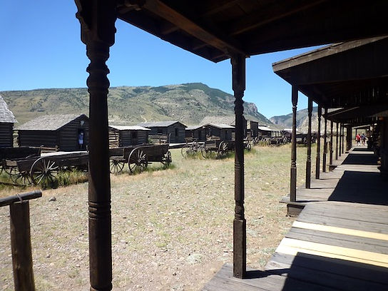 Old Trail Town var skjulested forButch Cassidy og Sundance Kid.