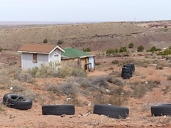 Typisk hjem for Hopi folket. www.drivingusa.dk