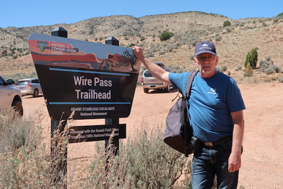 Rejseblogger Michael Bo Christensen, ved Wire Pass, USA