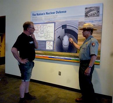 Michael Bo Christensen besøger visitorcenteret Minuteman Missile. drivingusa.dk