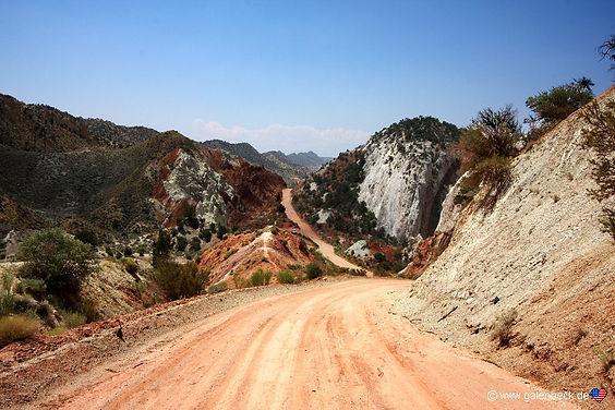 Cottonwood Canyon Road, 40 miles på grusvej