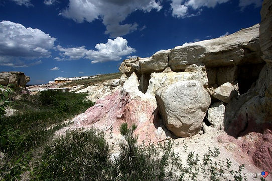 Paint Mines i Colorado usa. Roadtrip ruter ognationalparkeri USA