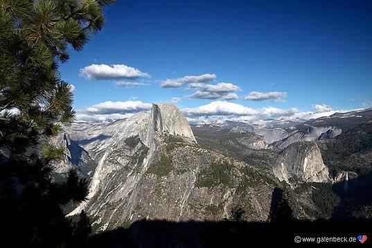 Half Dome i Yosemite. Roadtrip ruter og nationalparker i USA