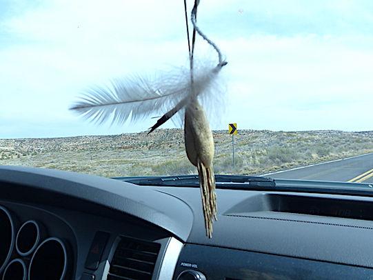 Indianerikon i bilen