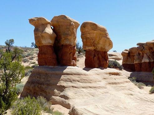 Fantastiske sten i Devils Garden ved Escalante. roadtrip og nationalparker i usa