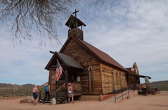 Guldgraverby på Apache Trail.