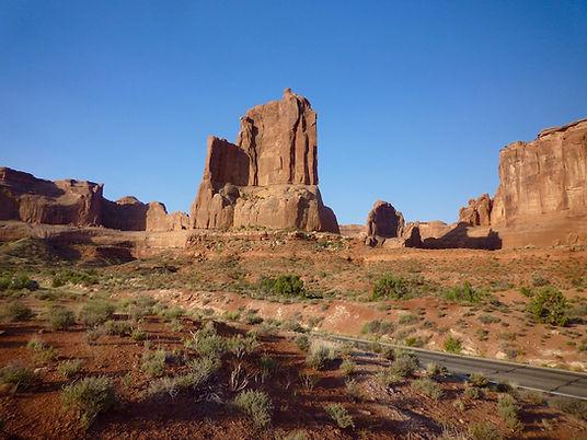 Three Gossips Sheep Rock. Arches. Roadtrip ruter og nationalparker i USA