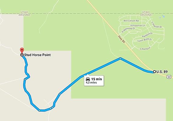 Ruten til Stud Horse Point