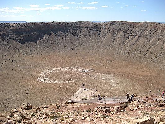 Krater efter meteor nedslag i Arizona