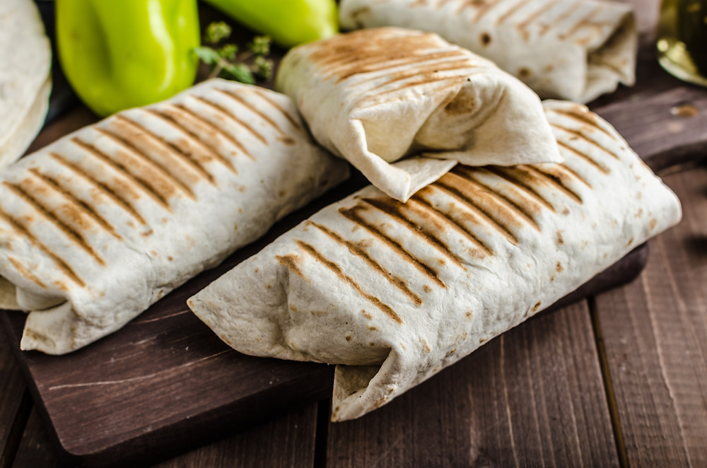 hearty and healthy breakfast burrito