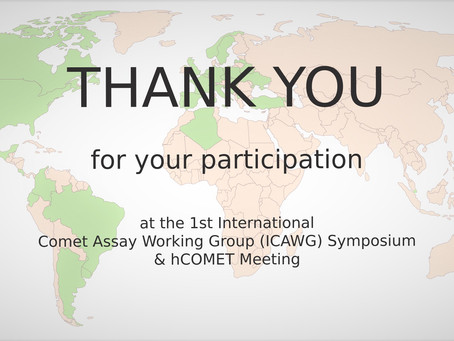 1st ICAWG Symposium & hCOMET Meeting - thank you note