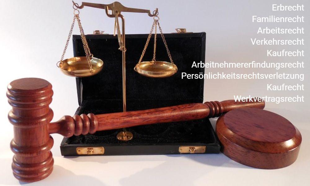 Rechtsgebiete Arbeitsrecht Verkehrsrecht Erbrecht Familienrecht
