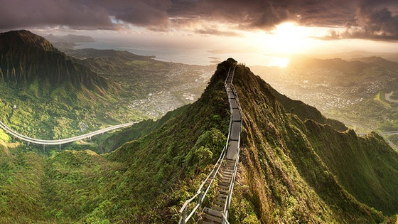 What I Learned From Climbing The Stairway To Heaven (Haiku Stairs) The Day After I Got Engaged.