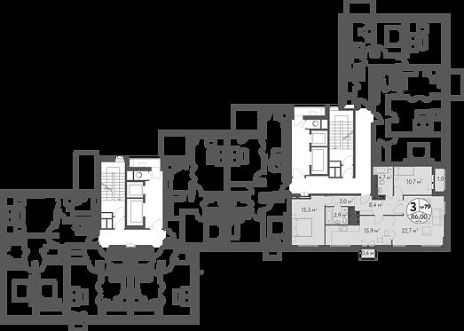 СЧ в Кусково| Квартира 3 комнаты, 86 кв.м