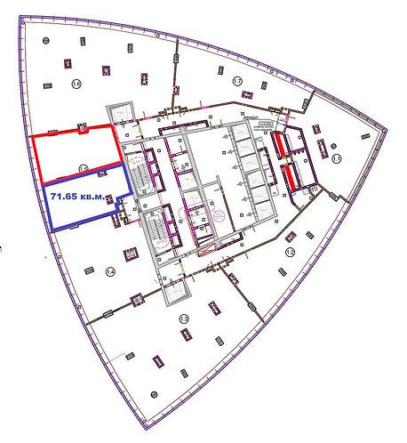Двухкомнатные апартаменты 71.65 м