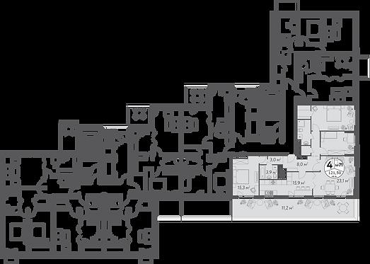 СЧ в Кусково| Квартира 4 комнаты, 121 кв.м