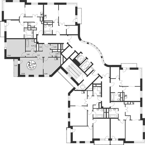 СЧ в Олимпийской деревне| Квартира 2 комната, 77,7 кв.м
