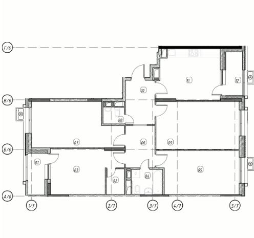 Квартира 4 комнаты, 111,97 кв.