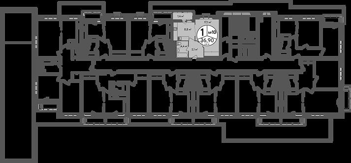 СЧ в Вешняках| Квартира 1 комната, 38,5 кв.м