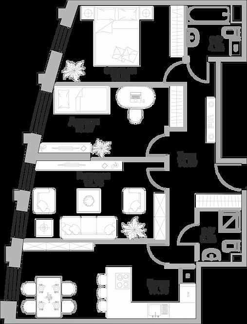 ЖК Крылья| Студия 84.25 метра