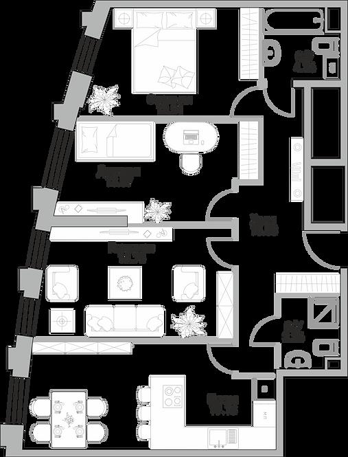 ЖК Крылья| Студия 84.11 метра