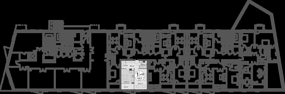 СЧ в Масловке| Квартира 1 комната, 49.2 кв.м