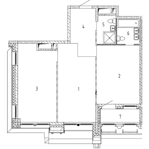 СЧ на Ломоносовском  Квартира 2 комнаты, 68.5 кв.м