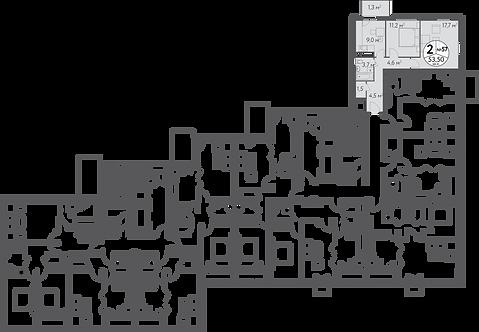 СЧ в Кусково| Квартира 2 комнаты, 53.5 кв.м