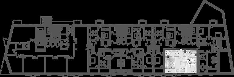 СЧ в Масловке| Квартира 2 комнаты, 76.9 кв.м