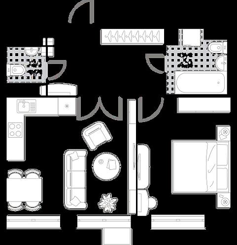 Апартаменты 1 комната, 46,48 кв.м