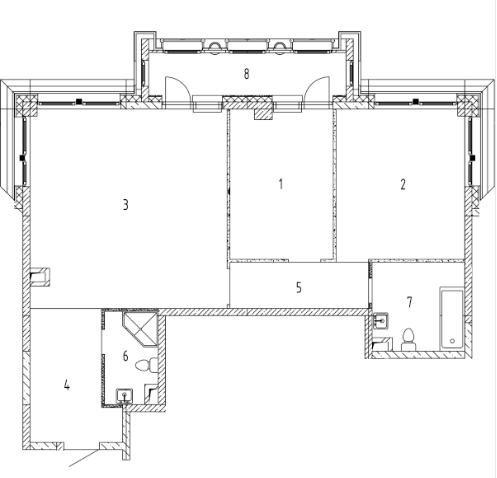 СЧ на Ломоносовском| Квартира 2 комнаты, 83.18 кв.м