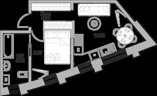 ЖК Крылья| Квартира 35.54 кв.м