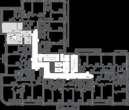 Резиденция на Покровском| Апартаменты 1 комнаты, 60 кв.м