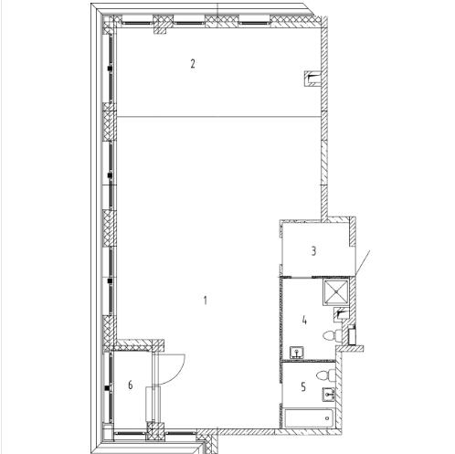 СЧ на Ломоносовском| Квартира 1 комната, 92.84 кв.м