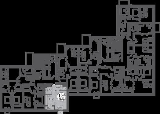СЧ в Кусково| Квартира 1 комната, 38 кв.м