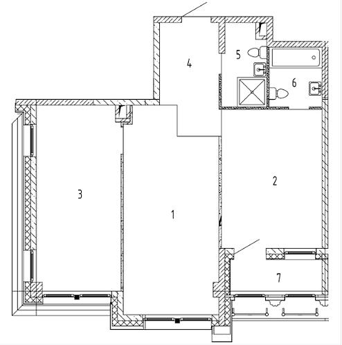 СЧ на Ломоносовском| Квартира 2 комнаты, 72.32 кв.м