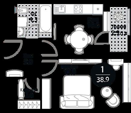 Квартира 1 комната, 38.9 кв.м