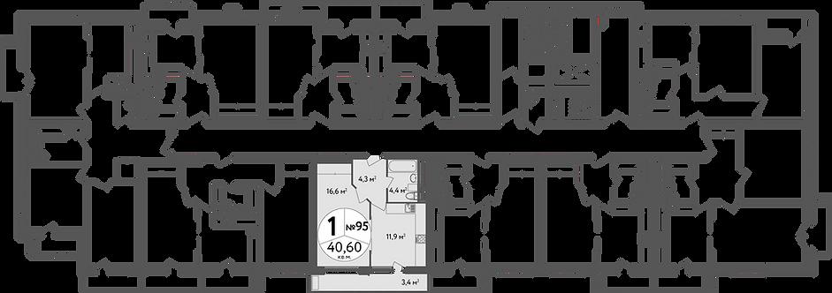 СЧ в Вешняках| Квартира 1 комната, 40 кв.м