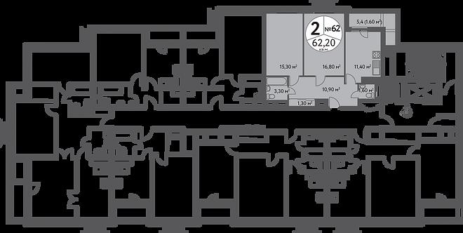 СЧ на Дмитровке| Квартира 2-комнаты, 62.5 кв.м