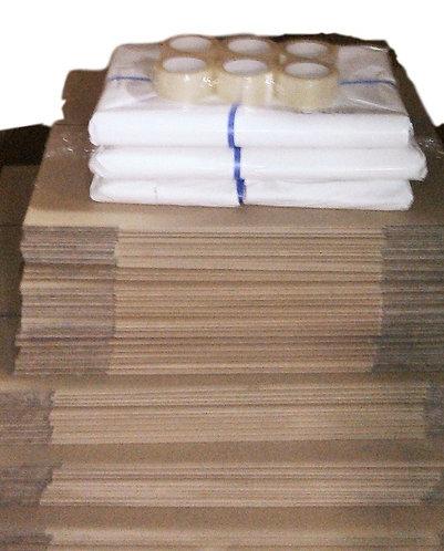 Complete  Bundle 75 Boxes(incl 45xBook 30xTeachest)10kg Paper Tape & Dispenser