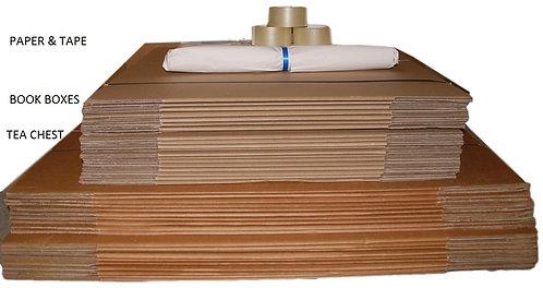 Bundle 4G  40 Boxes (incl 20x104lt Teachests 20x52lt Book) Paper Tape